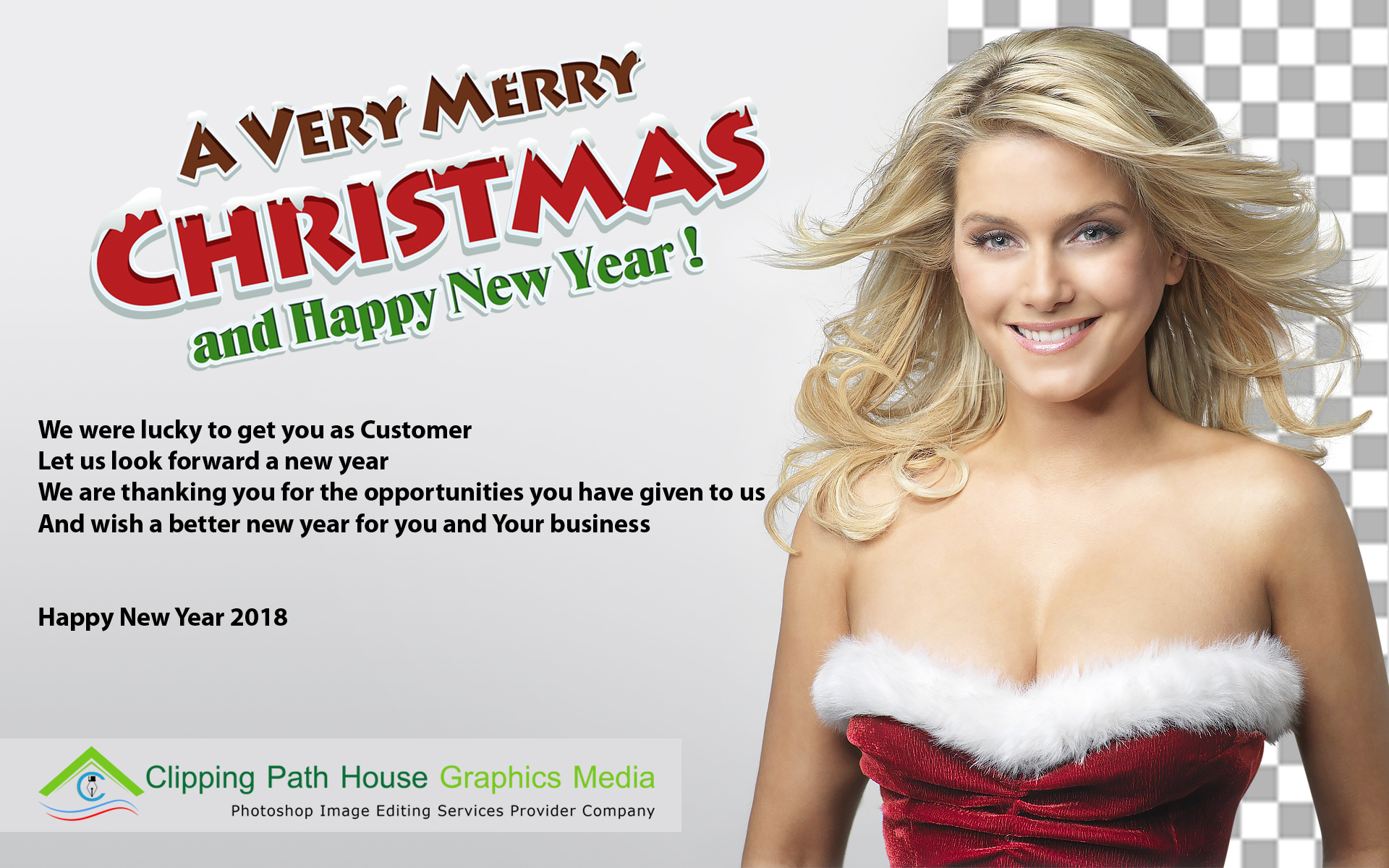 Happy New Year 2018, new year wish, clipping path house, cph graphics,