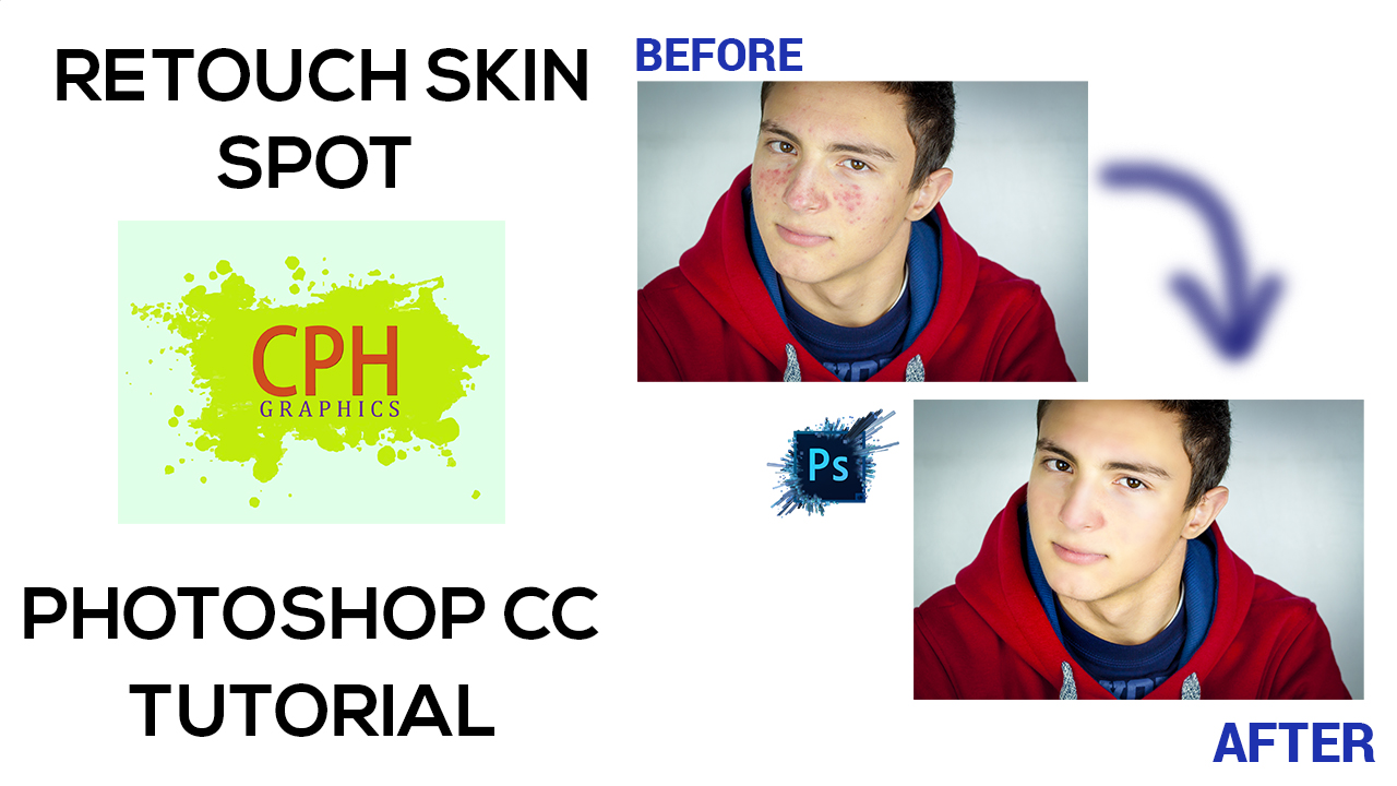 How to retouch Skin spot in Photoshop CC | Free Adobe